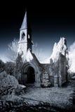 被破坏的教堂 库存照片