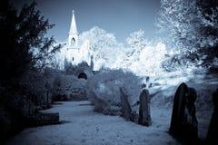 被破坏的教堂 库存图片