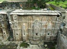 被破坏的Lakshmi纳拉扬寺庙,堡垒Kangra,印度 库存图片