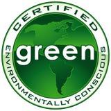 被确认的绿色路径密封 库存照片