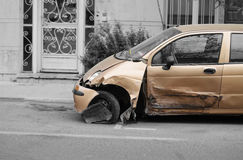 被碰撞的汽车 图库摄影