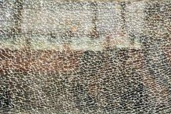 被磨炼的残破的玻璃 免版税图库摄影