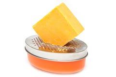 被磨碎的切达干酪 免版税库存照片