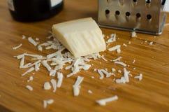 被磨碎的帕尔马干酪 库存图片