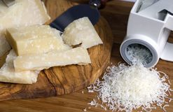 被磨碎的干酪新鲜 库存图片