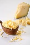 被磨碎的干酪 库存图片