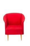 被称呼的扶手椅子现代红色 库存照片