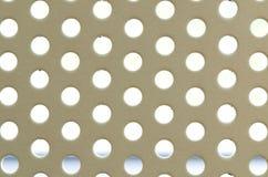被穿孔的白色无缝的圈子 免版税库存照片