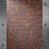 被穿孔的铝框架熔岩金属 免版税图库摄影