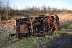 被窃取的烧坏的汽车 库存照片