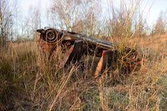 被窃取的烧坏的汽车 免版税库存照片