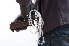 被窃取的jewelery片断 免版税图库摄影
