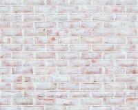 被粉刷的砖墙纹理 免版税库存图片