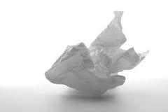 被粉碎的纸白色 库存照片