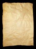 被粉碎的老纸张 免版税图库摄影