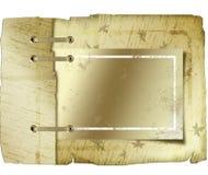 被系带的古色古香的书套 向量例证