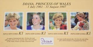 被纪念的戴安娜已故的公主威尔士 免版税库存照片