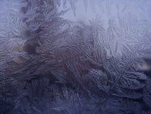 被结晶的玻璃冰 图库摄影