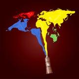 被绘的世界 免版税库存照片