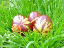 被绘的五颜六色的复活节彩蛋 免版税库存照片