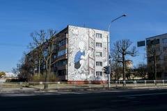 被绘的住宅房子 免版税库存照片