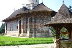 被绘的修道院 免版税图库摄影