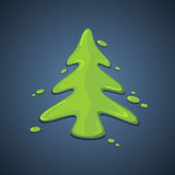 被绘的圣诞树 免版税库存照片