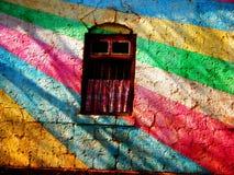 被绘的墙壁 免版税库存照片
