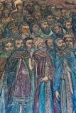 被绘的壁画在教会里 库存图片