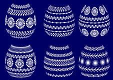 被绘的复活节彩蛋剪影 免版税库存照片