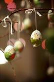 被绘的复活节彩蛋 库存图片