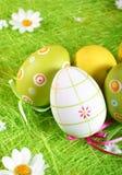 被绘的复活节彩蛋 免版税库存照片