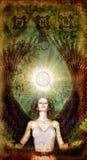 被绘的天使魔术 免版税库存照片
