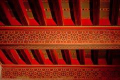 被绘的天花板在NAsrid宫殿, Alhambrra,格拉纳达西班牙 图库摄影