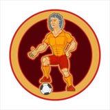 被绘的字符,标记的足球运动员 免版税库存照片