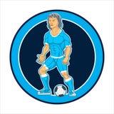 被绘的字符,足球运动员,海报的 库存图片