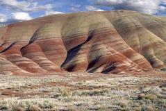 被绘的小山在俄勒冈 库存图片