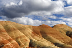 被绘的小山,俄勒冈 库存照片