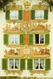 被绘的巴伐利亚房子 免版税库存照片