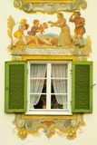被绘的巴伐利亚房子 图库摄影