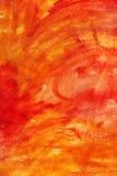 被绘的抽象画布桔子 图库摄影