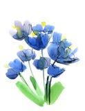 被绘的抽象背景花卉 向量例证