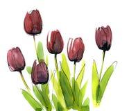被绘的抽象背景花卉 库存照片