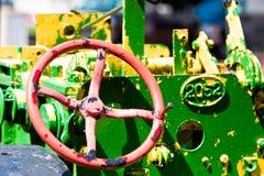 被绘的拖拉机 免版税图库摄影