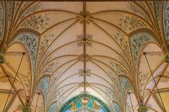 被绘的教会天花板建筑细节高小山得克萨斯 免版税图库摄影