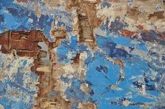 被绘的木头破旧和损坏的表面  库存照片