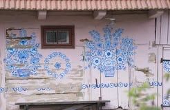 被绘的村庄 免版税库存照片