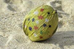 被绘的椰子 库存照片