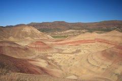 被绘的沙漠小山 免版税库存照片