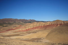 被绘的沙漠小山 库存图片